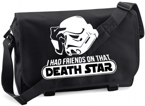I HAD FRIENDS ON THAT DEATHSTAR M/BAG - INSPIRED BY STAR WARS STORMTROOPERS